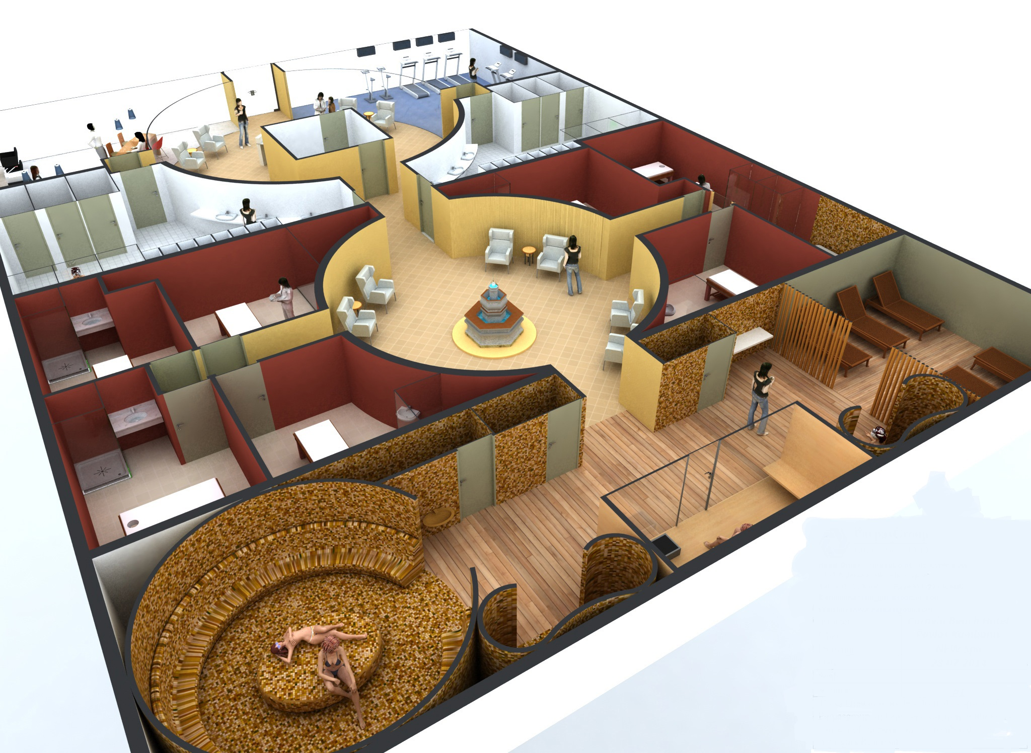 Spa drawings spatrade international spa consulting design spa management franchise - Salon equipment international ...